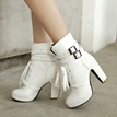 Ericdress Chic Lace-up Chunky Heel Boots