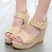Ericdress Sweet Lace Peep Toe Wedge Sandals