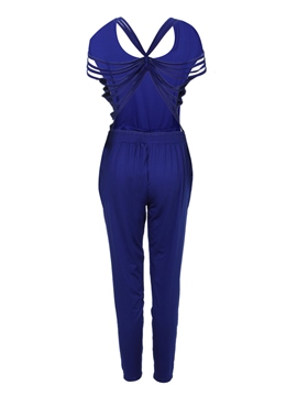 Ericdress Slim Backless Jumpsuit Pants