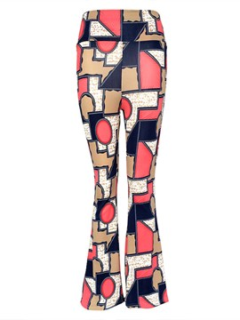 Ericdress Geometric Print Flared Pants