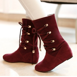 Korean Sweet Suede Ankle Snow Boots