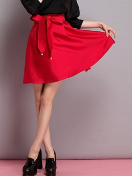 Ericdress Sweet Bowknot Skirt