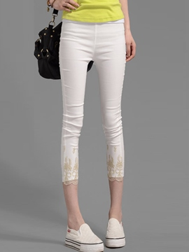 Ericdress Embroidery Leggings Pants