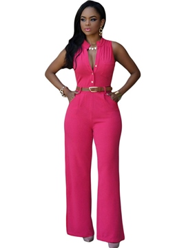 Ericrdess Solid Color Jumpsuits Pants