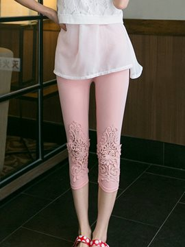 Ericdress Lace Hollow Leggings Pants