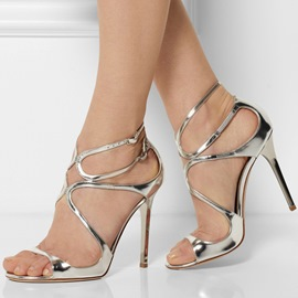 Unique Straps High Heel Summer Sandals