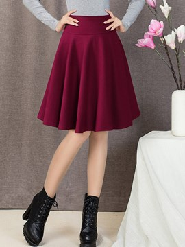 Ericdress Simple Pleated A-Line Skirt