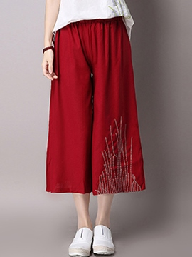 Ericdress Chinese Ethnic Straight Pants