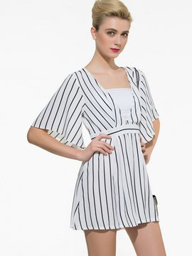 Ericdress Elegant Stripe Rompers