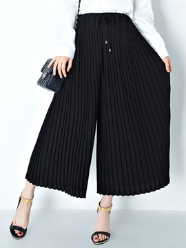 Ericdress Simple Pleated Pants