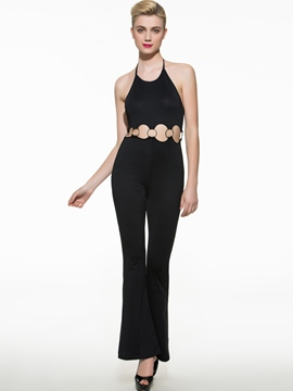 Ericdress Elegant Hollow Jumpsuits Pants