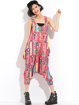 Ericdress Print Jumpsuits Pants