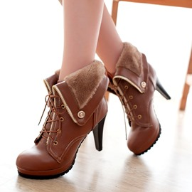 Fashion All-matched Roman Style Women Boots