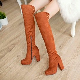 Multi Color Revit Suede Knee High Boots