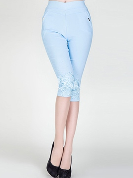 Ericdress Elegant Lace Patchwork Leggings Pants