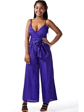 Ericdress Slim Strapless Jumpsuits Pants