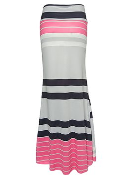 Ericdress SImple Stripe Bodycon Maxi Skirt