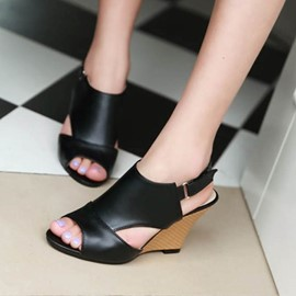 Ericdress Peep Toe Wedge Sandals