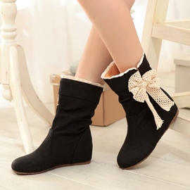 Sweet Bowknot Ankle Flat Boots
