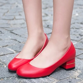 Ericdress Delicate PU Solid Color Flats