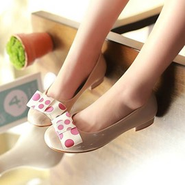 Ericdress Lovely Bowtie Round Toe Flats