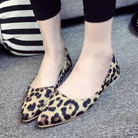 Ericdress Sexy Leopard Point Toe Flats