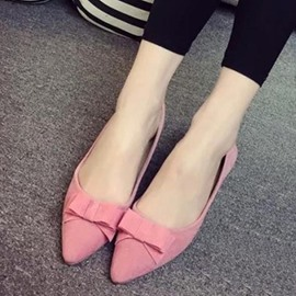 Ericdress Lovely Bowtie Suede Flats