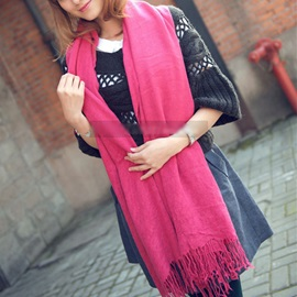 Best Pure Color Simple Long Cashmere Scarf