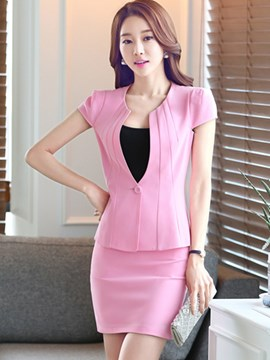Ericdress Slim Bodycon Formal Suit