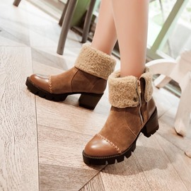 Ericdress Elegant Patchwork Ankle Boots