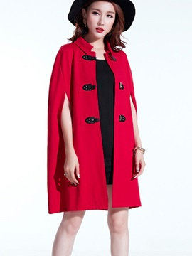 Ericdress Solid Color Turn-Down Cape