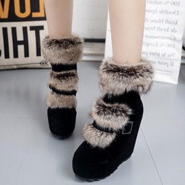 Ericdress Charming Furry Wedge Heel Ankle Boots