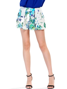 Ericdress Sweet Flower Print Shorts