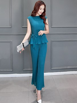 Ericdress Elegant Pleated Suit