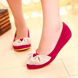 Ericdress Bright Lovely Bowtie Flats