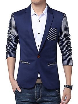 Ericdress Vogue Stripe Patched Men's Coat