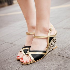 Ericdress Patchwork Wedge Sandals