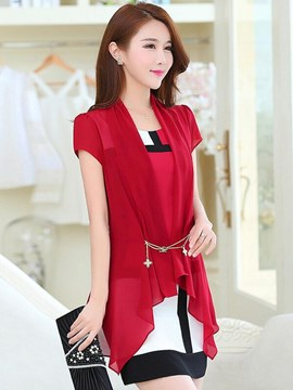 Ericdress Color Block Dress Suit