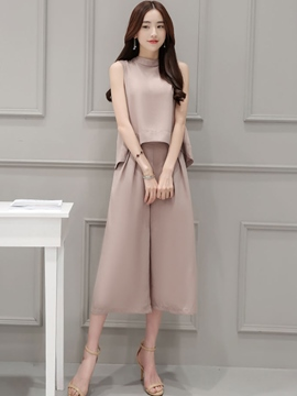 Ericdress Solid Color Loose Suit