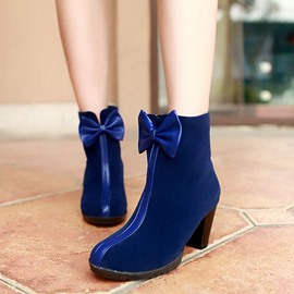 Ericdress Pretty Bowtie Decoration Chunky Heel Ankle Boots