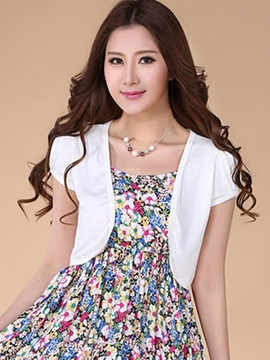 Ericdress Solid Color Sun Protective Waistcoat