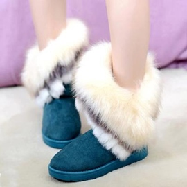 Ericdress Faux Furry Snow Boots