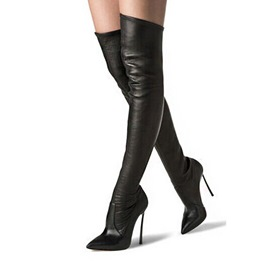 Ericdress PU Point Toe Knee High Boots
