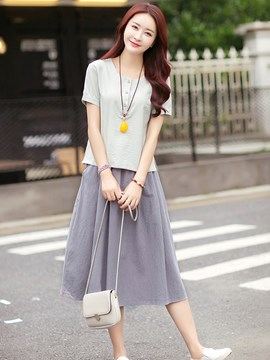 Ericdress Pastroral Simple Skirt Suit