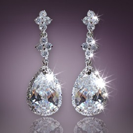All Shining Crystals Decorated Elegant Earrings