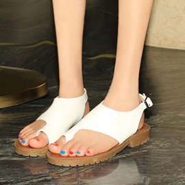 Ericdress Toe Ring Flat Sandals