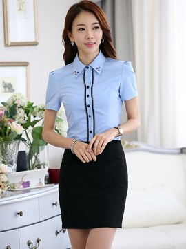 Ericdress OL Single-Breasted Blouse Suit
