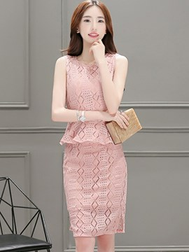 Ericdress Hollow Lace Suit