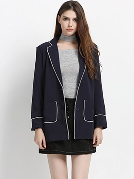 Ericdress Loose Pocket Casual Blazer