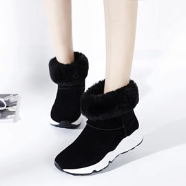 Ericdress Short Floss Outsole Slip-On Snow Boots
